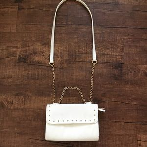 Handbags - Small white bag with gold studs